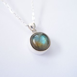 Earth Labradorite 925 Silver Necklace