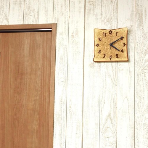 Bread wall clock / Imitation food wall clock / made in Japan / RealGift /