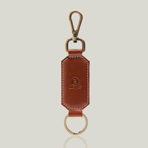 Champagne Champagne - Leather key ring - Camel ‧ wax leather