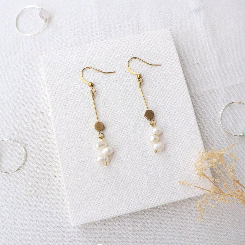 Freshwater Pearl Brass Drape Series - Work together to change the clip