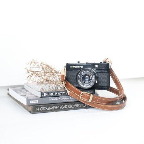 Camera strap A02 Classic brown leather camera strap