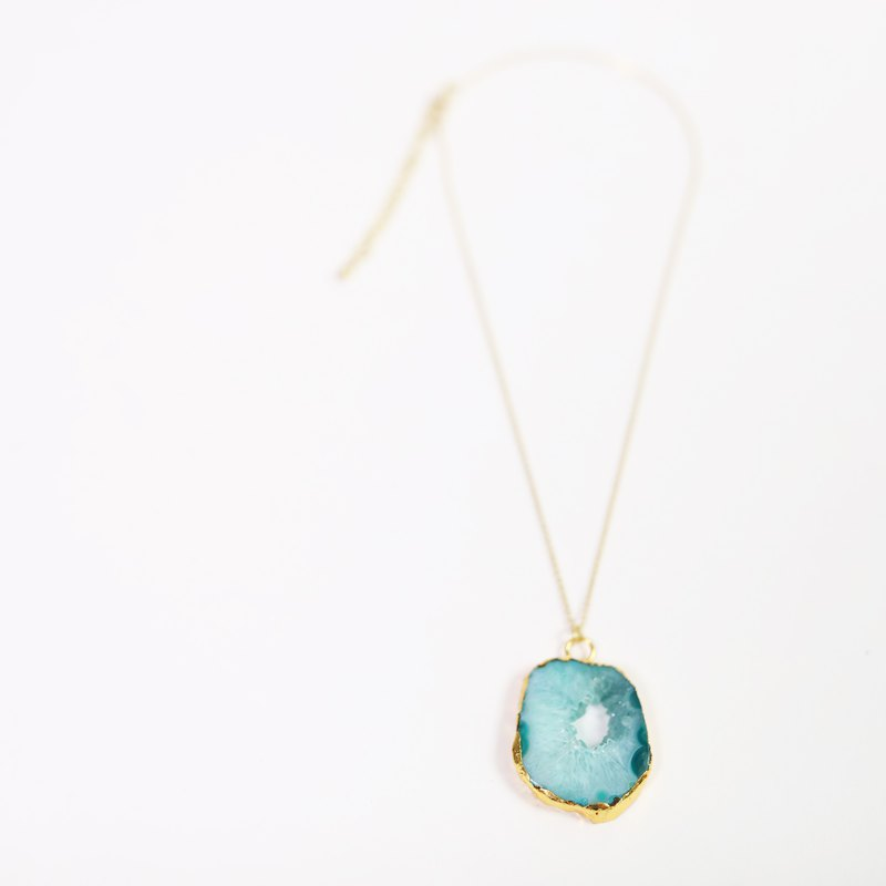 Brass Ore Jewelry_Blue Crystal_Fair Trade