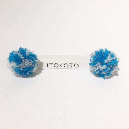 Fluffy Stud Round Earrings