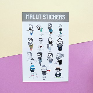 2013 | bearded figure 3 | stickers |