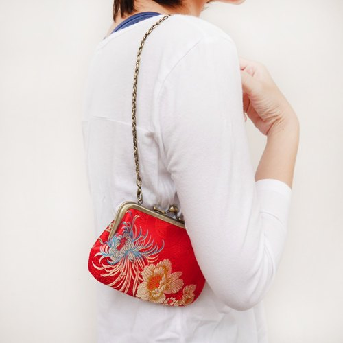 Mrs. Songlian four mouth gold package LASH bag / purse / shoulder bag] [Made in Taiwan