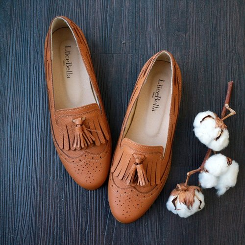 【Old Bridge Story】 Brogues Loafer shoes-Brown