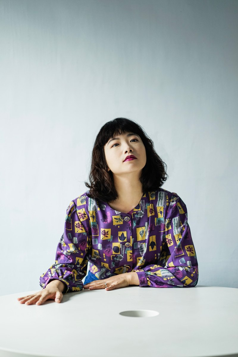 Purple Leaf Graphic Geometry / Japanese Vintage Shirt