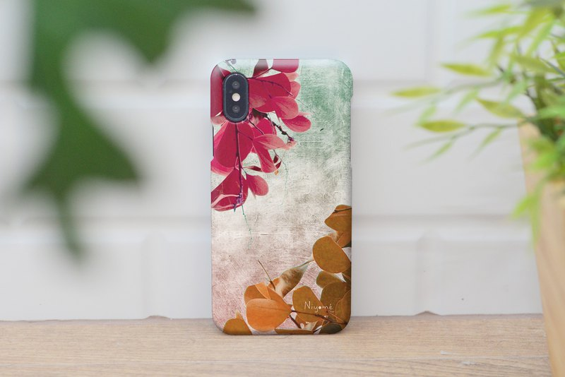 42-5 natural color leafs iphone case for iphone 6,7,8, iphone xs, iphone xs max