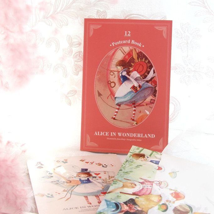 Indigo Classic Fairy Tale Color Postcard Set V3 - Alice in Wonderland, IDG73009