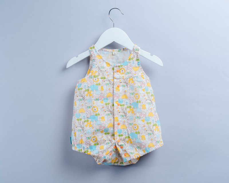 Zephyr Sleeveless Fold - Animal Forest Infant Newborn