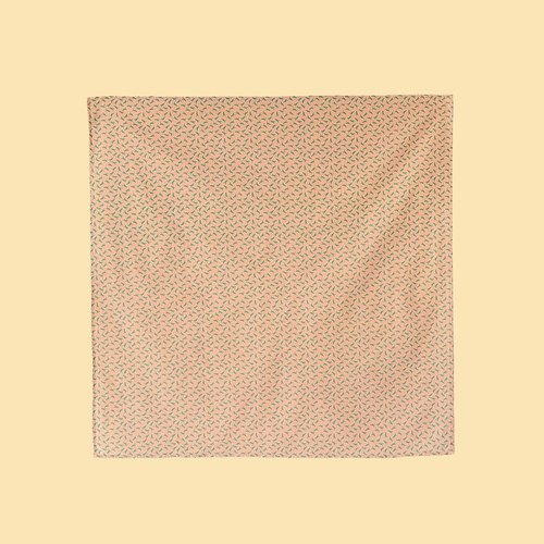 Furoshiki Wrapping Cloth - 70x70 / Crested Myna No.4 / Pink Peach