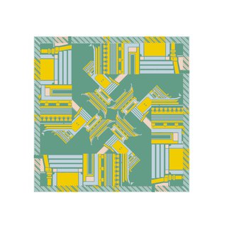 Ancient building silk scarf