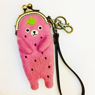 Strawberry Bear Purse / Lipstick Bag