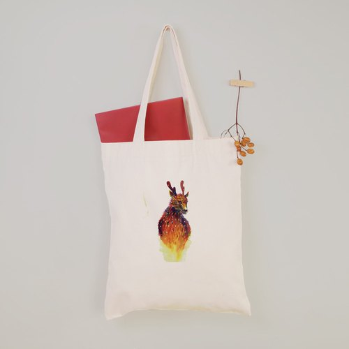 Dongjun - Taiwan Sika Deer Flat Canvas Bag