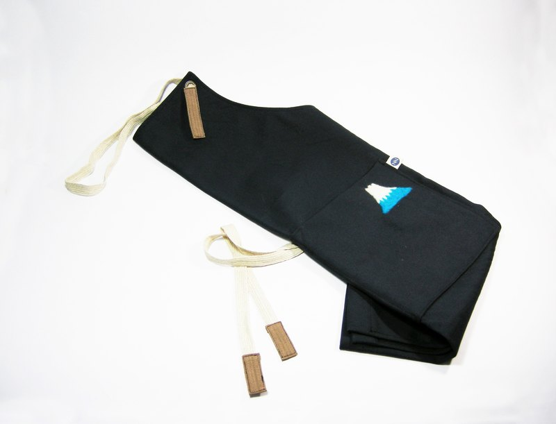 Wool felt Fuji Mountain apron (canvas dark blue) __made as zuo zuo hand made wool felt apron