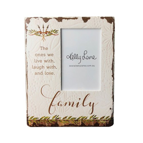 Poppy Cotton Frame Block - Family Photo