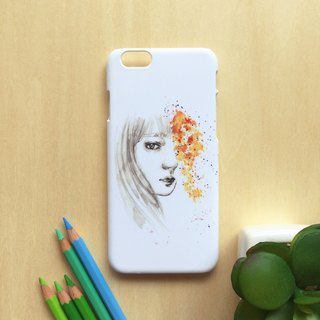 Girl with yellow flower. Matte Case( iPhone, HTC, Samsung, Sony, LG, OPPO)
