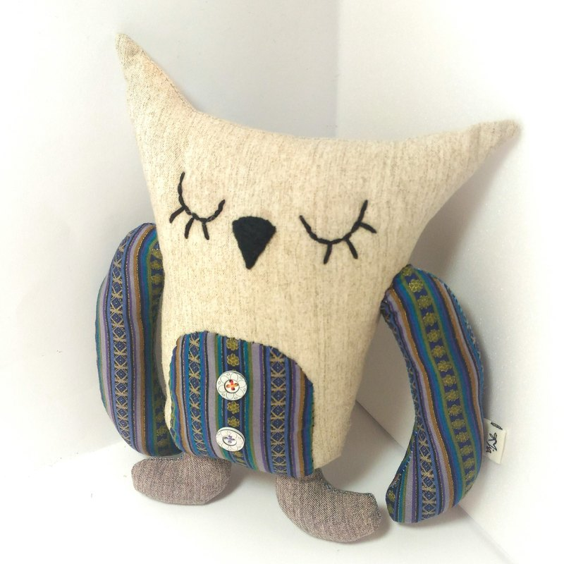 Owl ~ ~ handmade cloth doll Christmas gifts