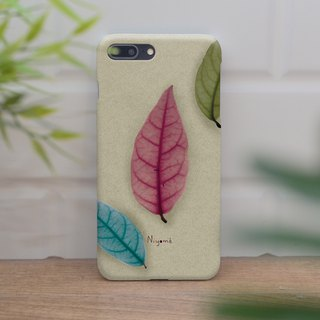 iphone case colorful leafs for iphone5s, 6s, 6s plus, 7, 7+, 8, 8+, iphone x