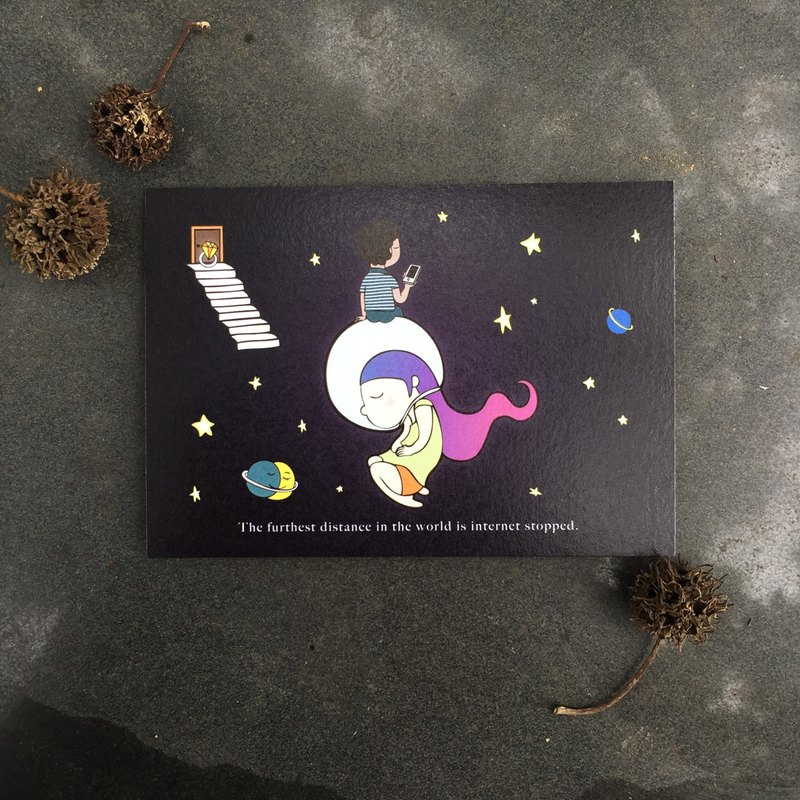 [LeeZa] Illustrated postcard ★ The farthest distance
