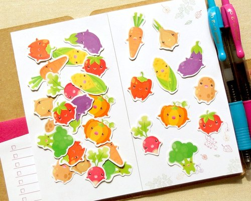 Vegetable Stickers - 30 Pieces - Planner Stickers - Stickers for Planner