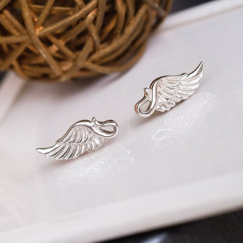 Angel wing wings earrings 925 sterling silver ornaments