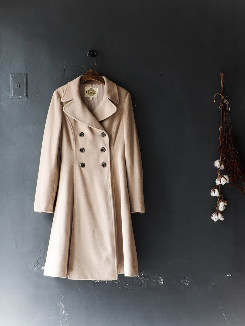River Water Mountain - Gifu shallow khaki breasted classic sheep antique wool coat wool wool vintage wool vintage overcoat