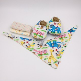 Wax painting Makino - Miyue baby gift box (toddler shoes / baby shoes / baby shoes + 2 handkerchief + scarf)