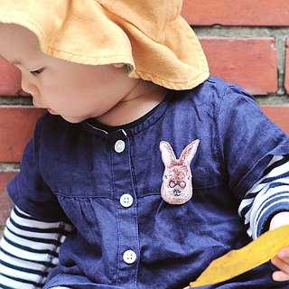 Animal embroidery pin / brooch - forest rabbit