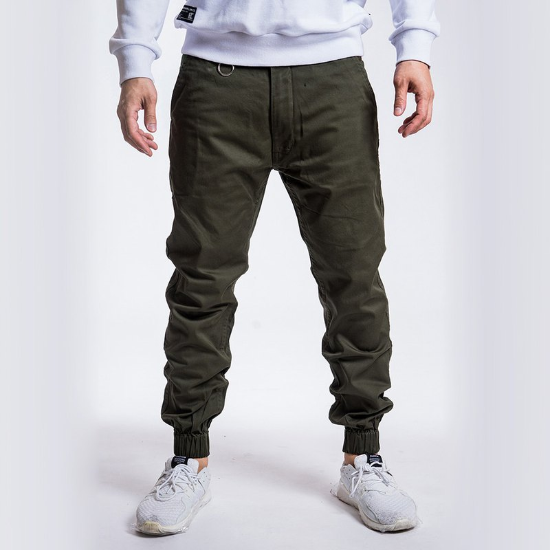 L.I.M.I.T.E - Men's Chino with Camo Patch Joggers Pant