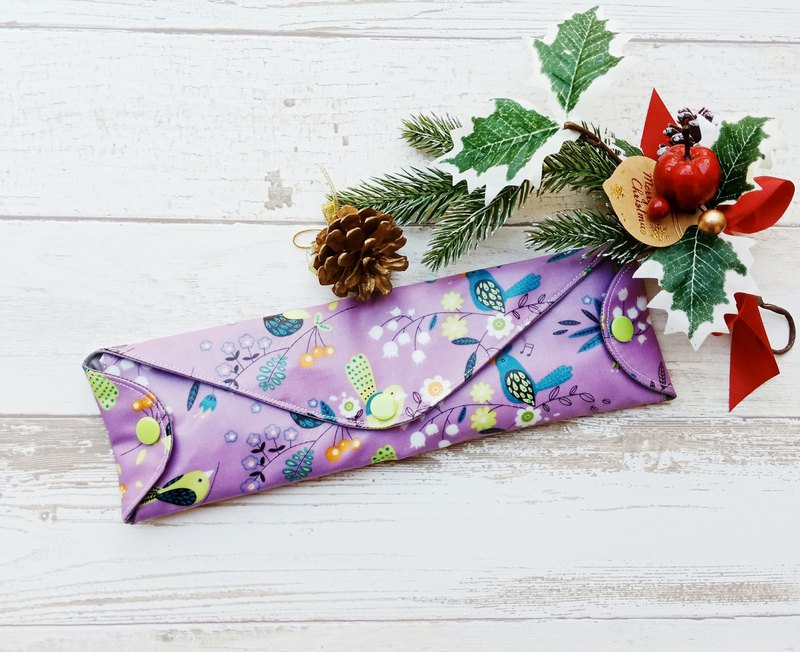 [waterproof and environmentally friendly tableware bag] purple flower