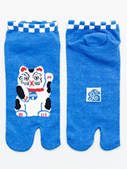 Pre-order lucky cat short version - two fingers socks foot bag 7JKP8210