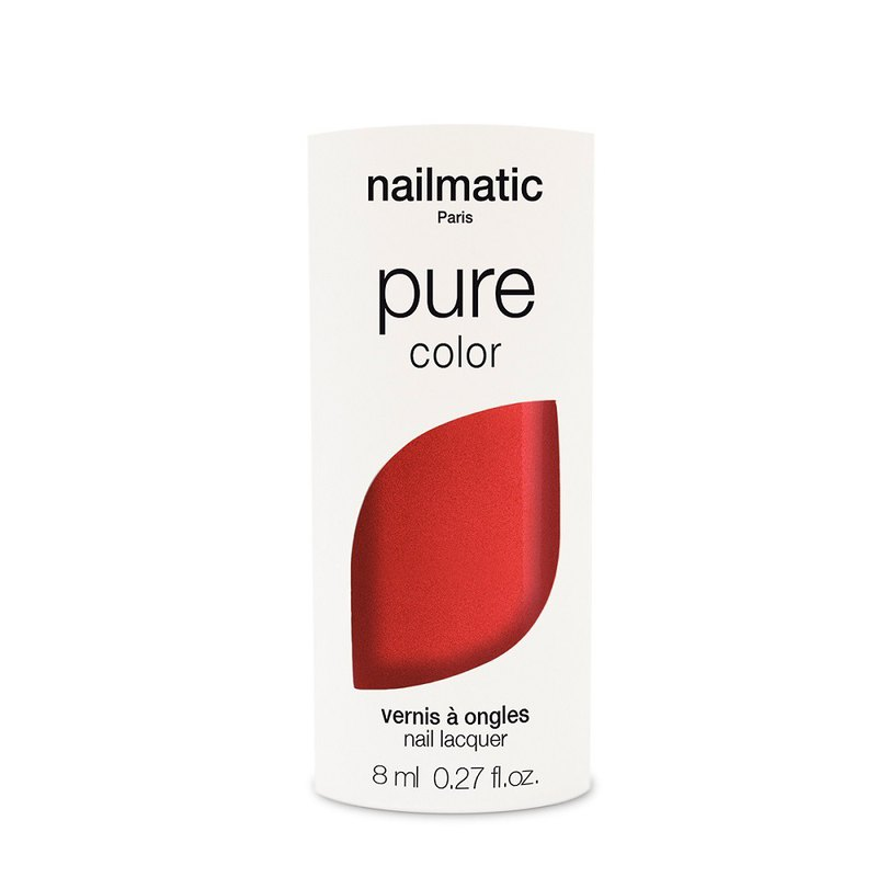 Nailmatic Pure Color Bio-Based Classic Nail Polish-AMOUR-Pearl Red