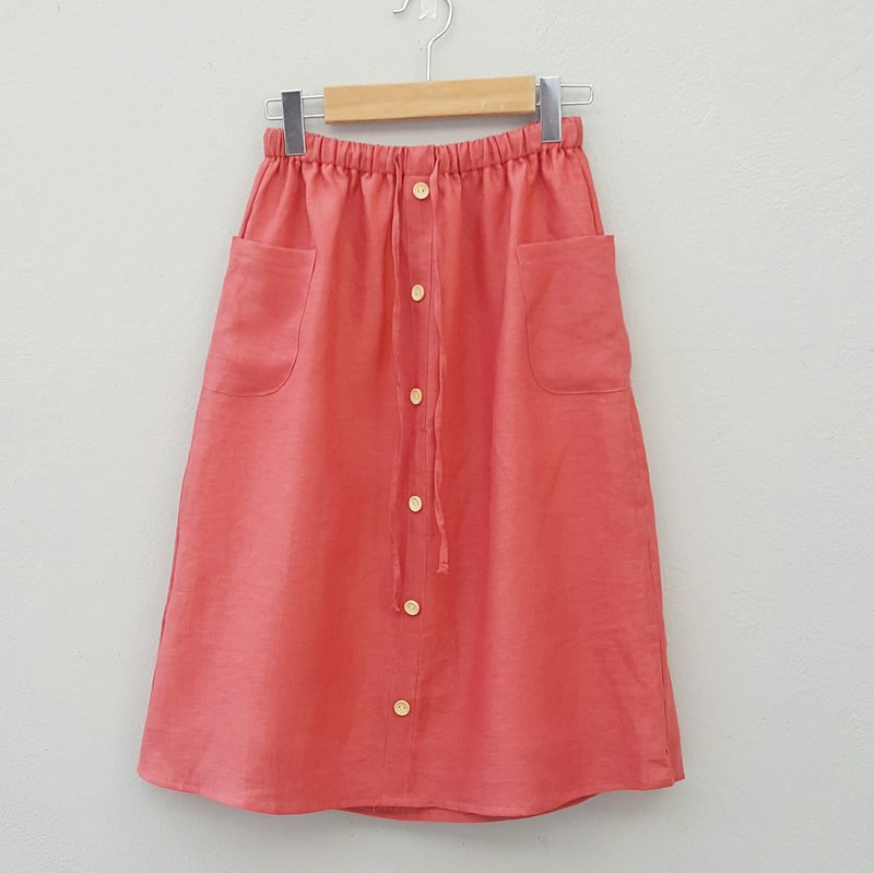Wooden Skirt - Apple