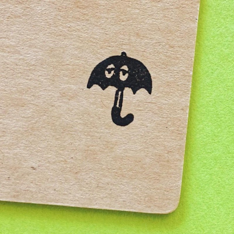 Umbrella haunted・ rubber stamp・ 20mm series