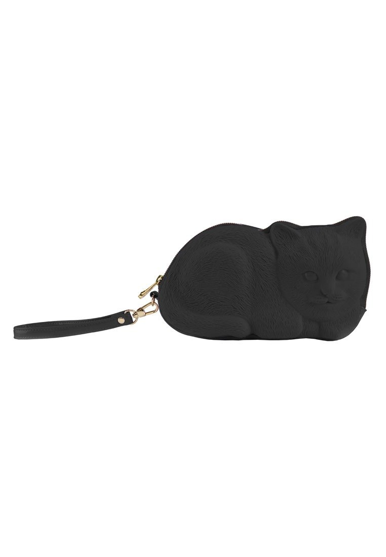 Adamo 3D Bag Original Ally Cat Clutch Bag - Black