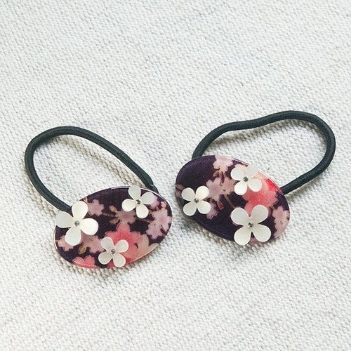 flower hairband-purple
