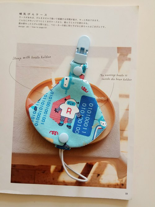 Robot combo pacifier clip < nipple dust bag + pacifier clips> dual function vanilla pacifier available 1 into