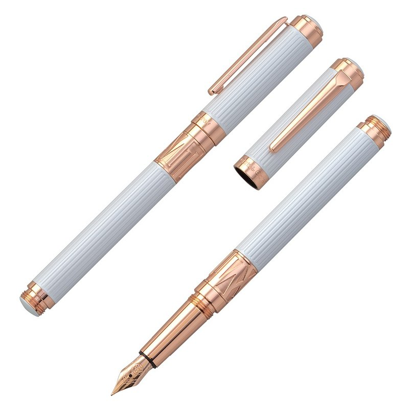 [Chris & Carey] Toki Series / Straight Pearl White Fountain Pen TKFP-05