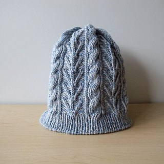 Flexible supima cotton knit cap · blue gray