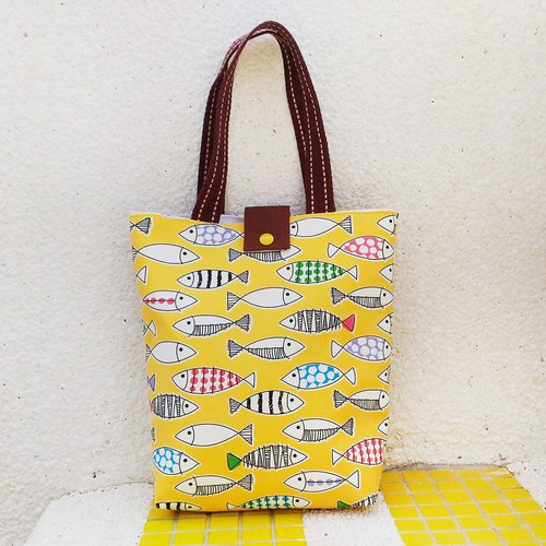 Colored fish bag _ yellow / left 1