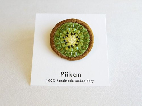 【Fruit series】 Kiwi brooch