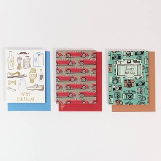 Hot stamping three-in-one creative combination card [ JP gift card]