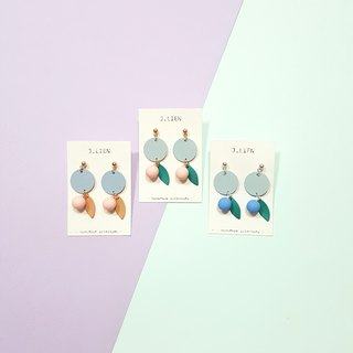 Paradise fruit series - 3 color ear pin / ear clip handmade earrings Korea direct
