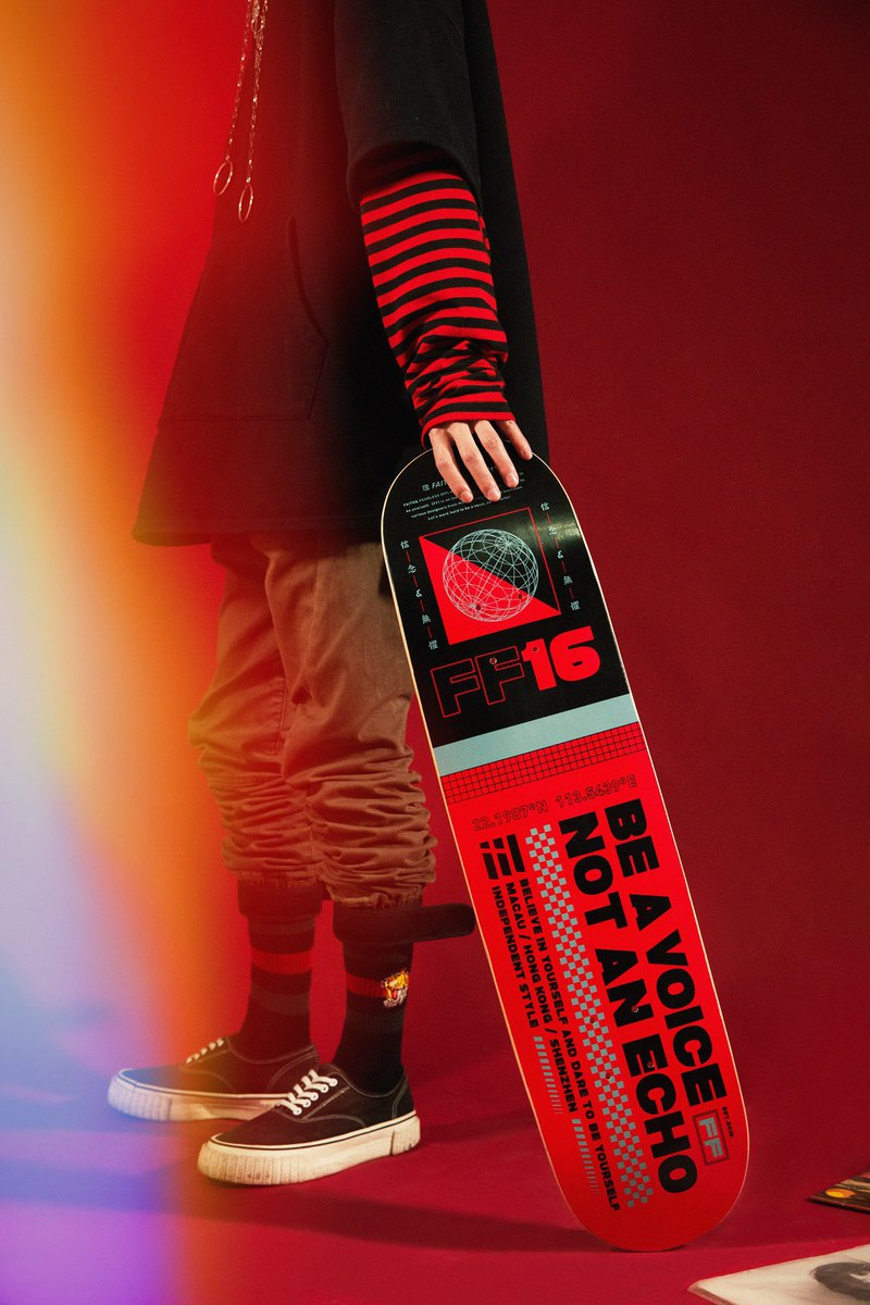 Faith & Fearless – Skateboard Red 紅色滑板