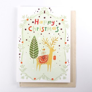 Elk with sparrows to send gifts to Christmas cards [Ling Design-card Christmas series]