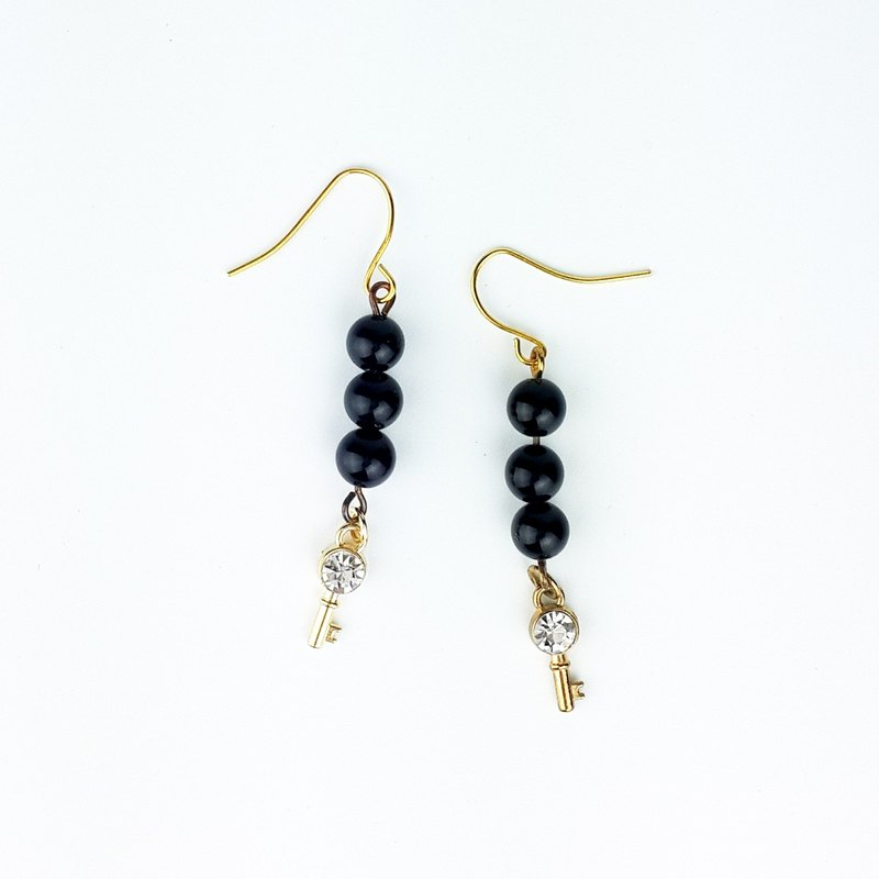 | Simple Series | Black Secret Black Onyx (Earrings x Ear Clips x Handmade x Customized.)