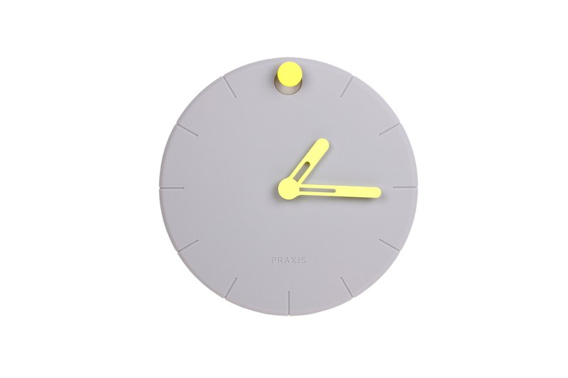 HOOOK Clock in Neon Yellow