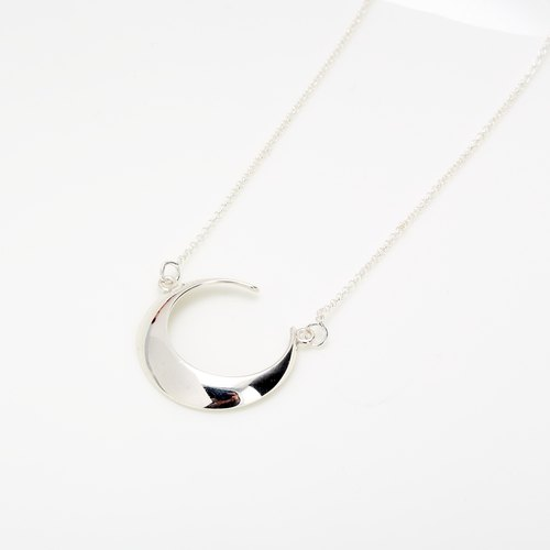 Moonlight Moon Crescent s925 sterling silver necklace Valentine's Day gift