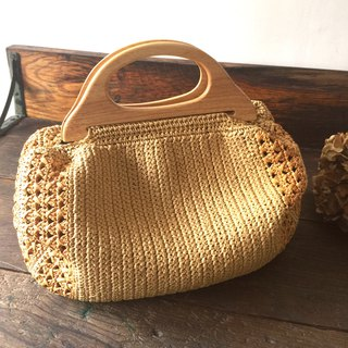Method of keeping secrets wooden handle woven bag